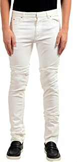 Maison Margiela 10 Men's White Slim Skinny Jeans US 30 IT 46