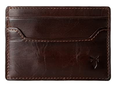 Frye Logan Card (Dark Brown Antique) Credit card Wallet