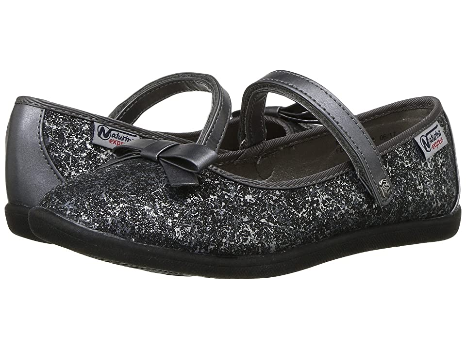 Naturino Express Marietta (Toddler/Little Kid) (Black/Pewter) Girls Shoes