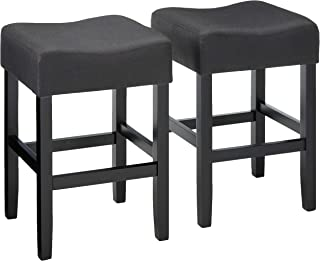 Christopher Knight Home Portofino Backless Dark Charcoal Fabric Counter Stools (Set of 2)