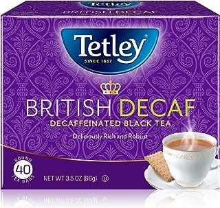 Tetley British Blend Premium Decaf Black Tea, Decaffeinated Tea, 40 Tea Bags (Pack of 6), Rainforest Alliance Certified