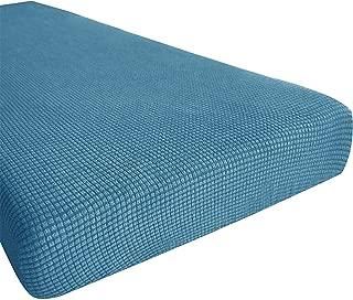 Hokway Couch Cushion Slipcovers Sofa Cushion Covers Jacquard Stretch Cushion Protectors(Denim Blue, Loveseat Cushion)