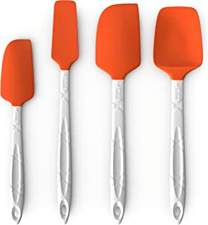M KITCHEN WORLD Heat Resistant Silicone Spatulas Set – Rubber Spatula Kitchen..
