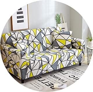 Elastic Sofa Cover Printed Flowers Slipcover Tight Wrap All-Inclusive Corner Sofa Cover Stretch Furniture Covers 1/2/3/4 Seater,Color 15,2Seater 145-185Cm