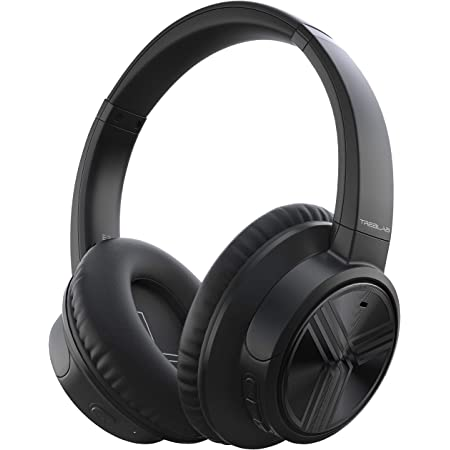 TREBLAB E3 (2019) - Active Noise Cancelling Headphones, Bluetooth 5.0 | 50H Battery Life w/Type-C | Over Ear Bluetooth Headphones with Microphone for Work, Travel, Sport (Black)