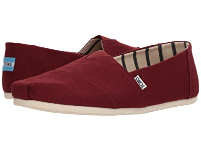 TOMS Venice Collection Alpargata (Black Cherry Heritage Canvas) Men