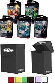 Totem World Core Set 2020 All 5 Planeswalker Decks of Magic The Gathering with 5 Totem Deck Box - Five Decks for M20 Lot Bundle