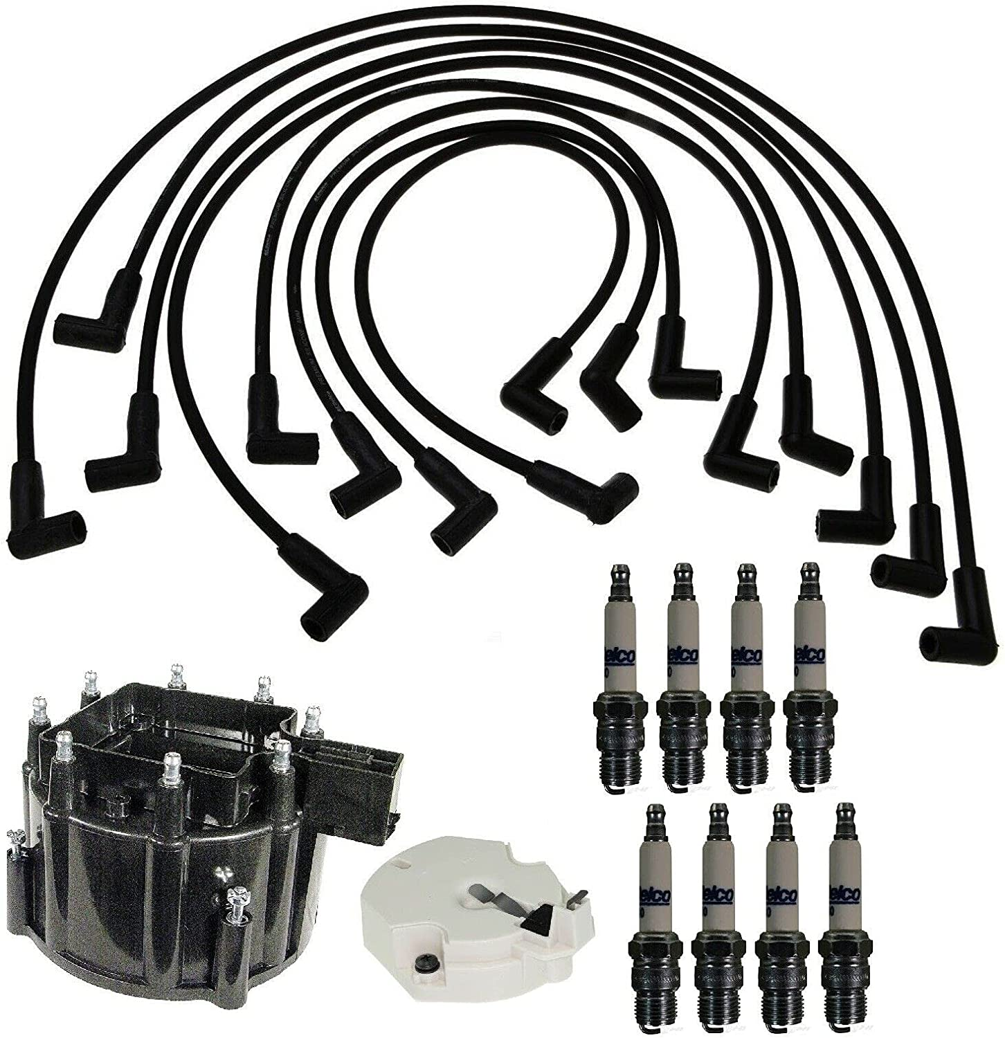 Replacement New mail order Distributor Cap Rotor Kit Deluxe Wire Spark Plug