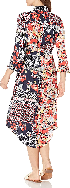 NIC+ZOE Women's Mixed Up Blooms Shirt Dress