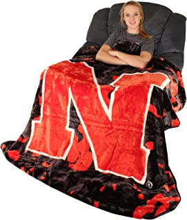 "College Covers NCAA Rachel Throw Blanket, 63"" x 86"", Nebraska Cornhuskers"