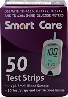 Smart Care® Blood Glucose Test Strips for Use with Smart Gear Meter, (Hospital Pack 50's) (Pack of 1)