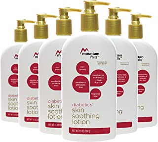Mountain Falls Diabetics' Skin Soothing Lotion, Fragrance Free, Paraben and Phthlate Free, 13 Ounce (Pack of 6)