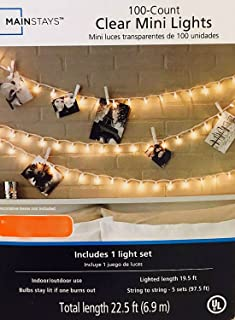 Mainstays 100 Ct Clear mini lights (Pack of 2)