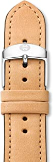 MICHELE Women's 20mm Genuine Leather Watch Band Color: Tan (Model: MS20AB270231)