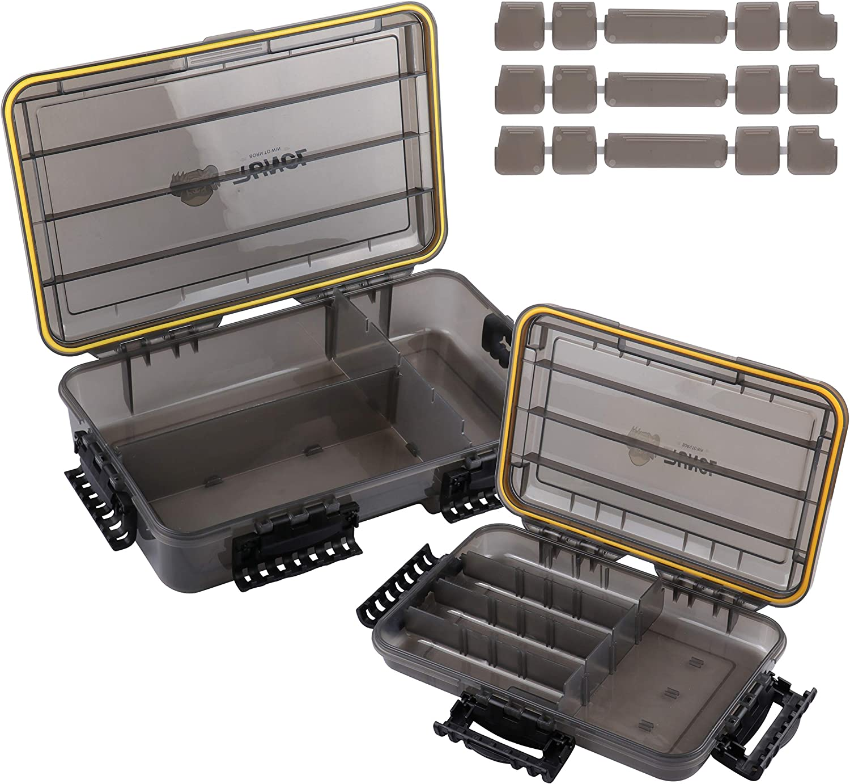 Dealing full price reduction RUNCL Fishing Tackle Box wi Storage Organizer Waterproof Topics on TV