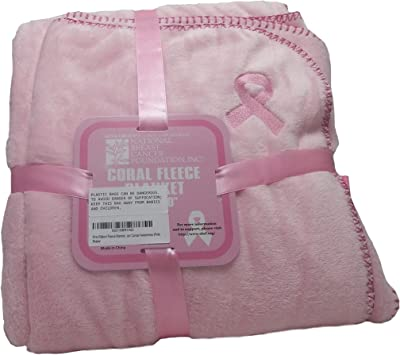 Pink Ribbon Fleece Blanket 50