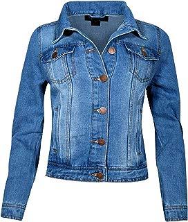 Jou Jou Women's Basic Denim Jean Jacket