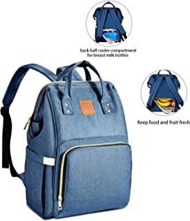 Baoyun Diaper Bag Backpack for Mom&Dad - Maternity Waterproof Travel Diaper Bags with Large Insulated Cooler for Breast Milk - Multi-Function Baby Nappy Bags for Baby Boys&Girls