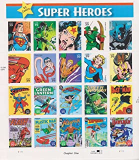 DC Comics Super Heroes, Full Sheet of 20 x 39-Cent Postage Stamps, USA 2006, Scott 4084