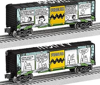 Lionel 684677 Peanuts Comics Art Meadow Boxcar, O Gauge, black, Teal, Yellow, White, Green