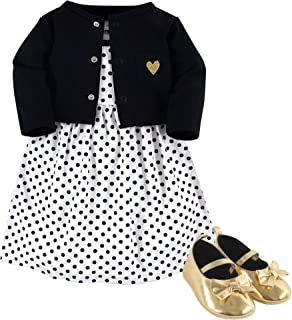 Hudson Baby Baby Girls Dress, Cardigan and Shoes
