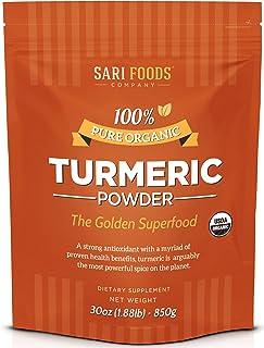 Natural Organic Turmeric Powder (30 Ounce): Natural, Vegan, Whole Food Based Curcumin Superfood Supplement. The Golden, An...