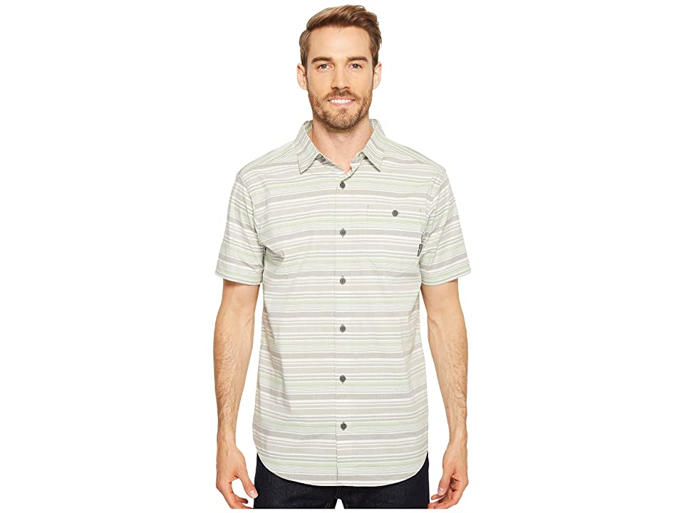 Columbia Boulder Ridge Short Sleeve Top (Sage Stripe) Men