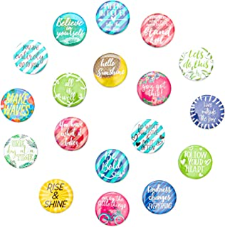 Paper Junkie Inspirational Magnets for Lockers or Fridge (18 Count), 1.25 Inches