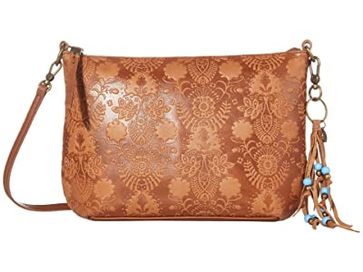 The Sak Sequoia 3-in-1 Crossbody (Tobacco Floral Embossed) Handbags