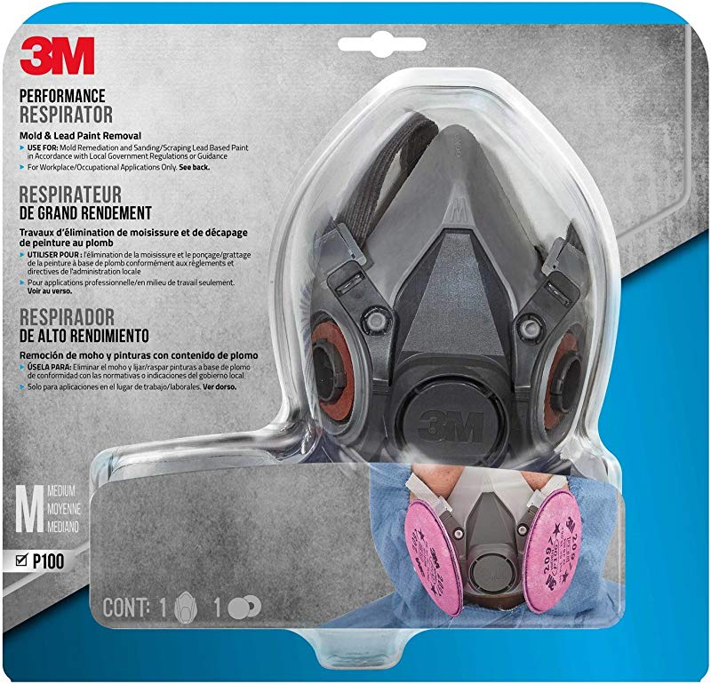 3M Mold And Lead Paint Removal Respirator Medium 6297PA1 A
