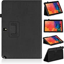 Topratesell Samsung Galaxy Note Pro 12.2 Folio Case - Slim Fit Leather Cover for NotePro 12.2-inch Tablet SM-P900 (Black)
