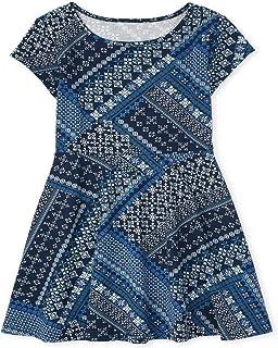 فستان للفتيات قصير الأكمام مطبوع عليه فستان للمناسبات الخاصة من ذا كيدز بليس