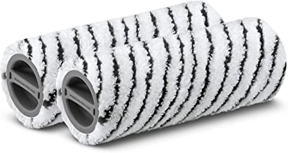 Karcher FC Stone Microfiber Floor Cleaner Rollers, Black, 2 Piece