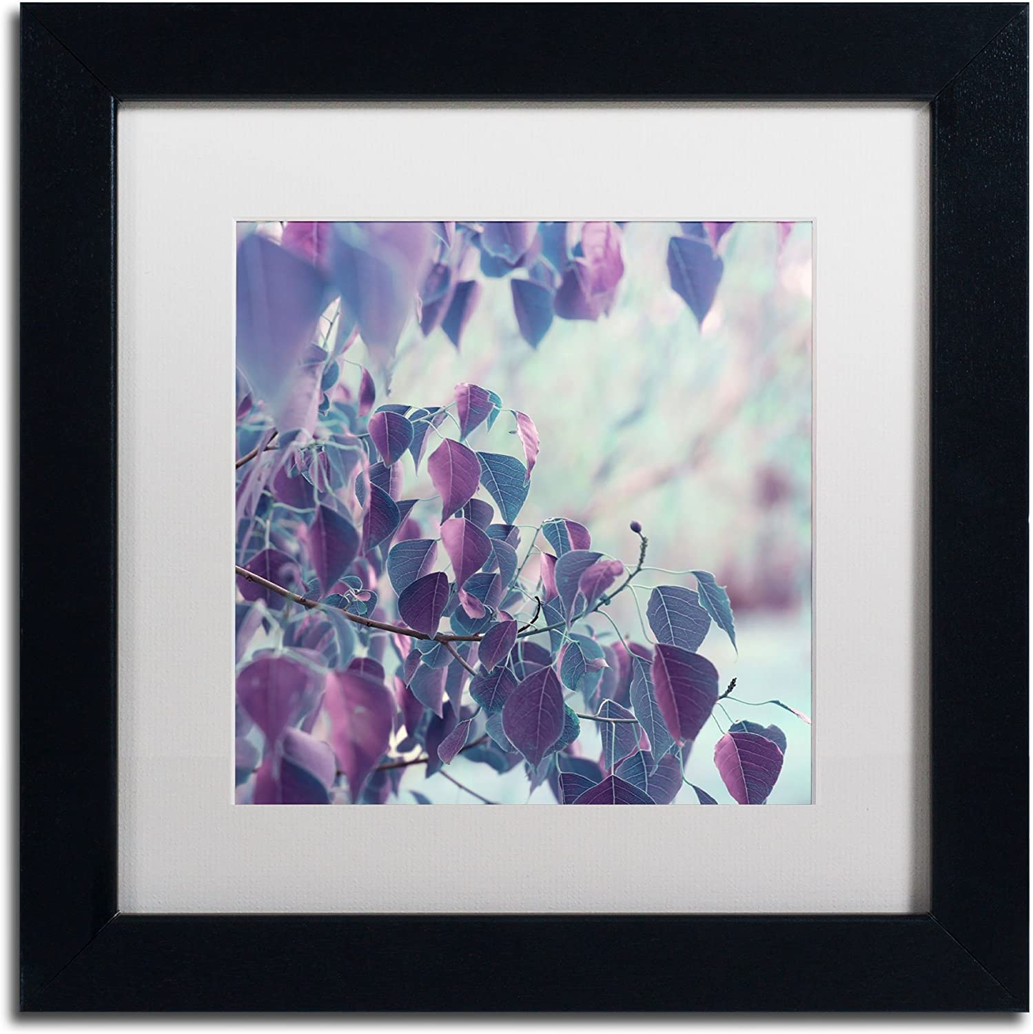 Trademark Fine Art Summer Thoughts in White Matte and Black Frame Artwork by Beata Czyzowska Young, 11 by 11Inch