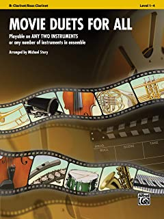 Movie Duets for All: Playable on Any Two Instruments or Any Number of Instruments in Ensemble