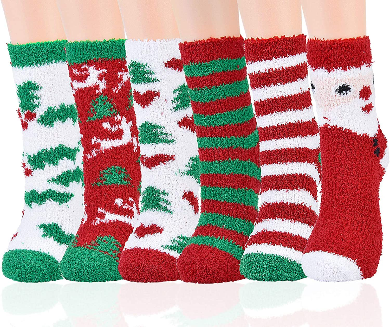 Max 56% OFF Many popular brands Aniwon Christmas Fuzzy Socks Sof Holiday 6 Pairs