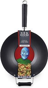 "Ken Hom Excellence Stir Fry Wok, 12"", Black"