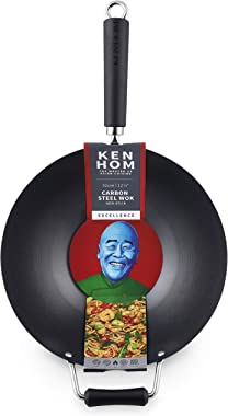 "Ken Hom Excellence Stir Fry Wok, 12"", Black"