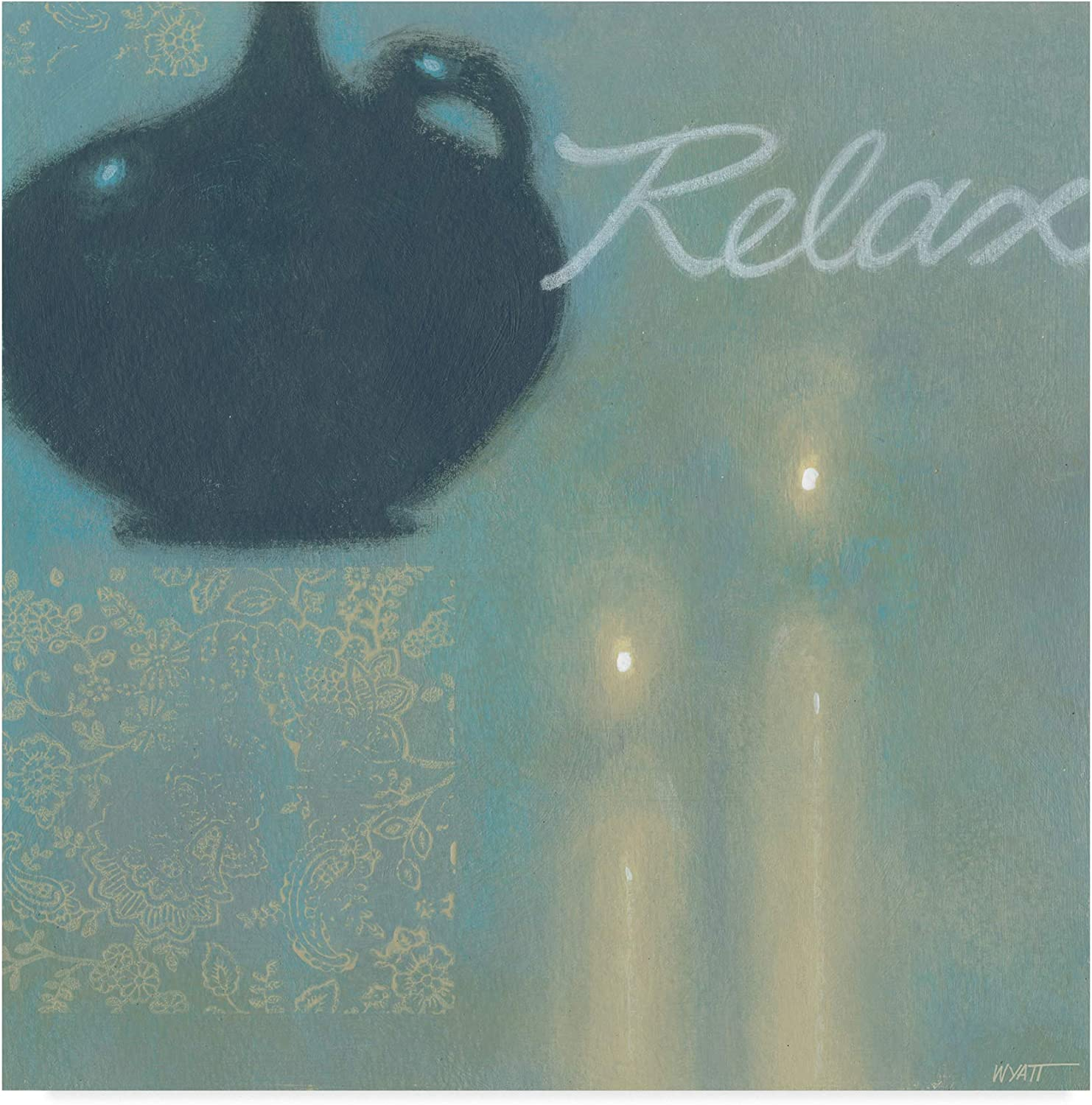 Trademark Fine Art Relax Abstract Wall Decor by Norman Wyatt, 14x14