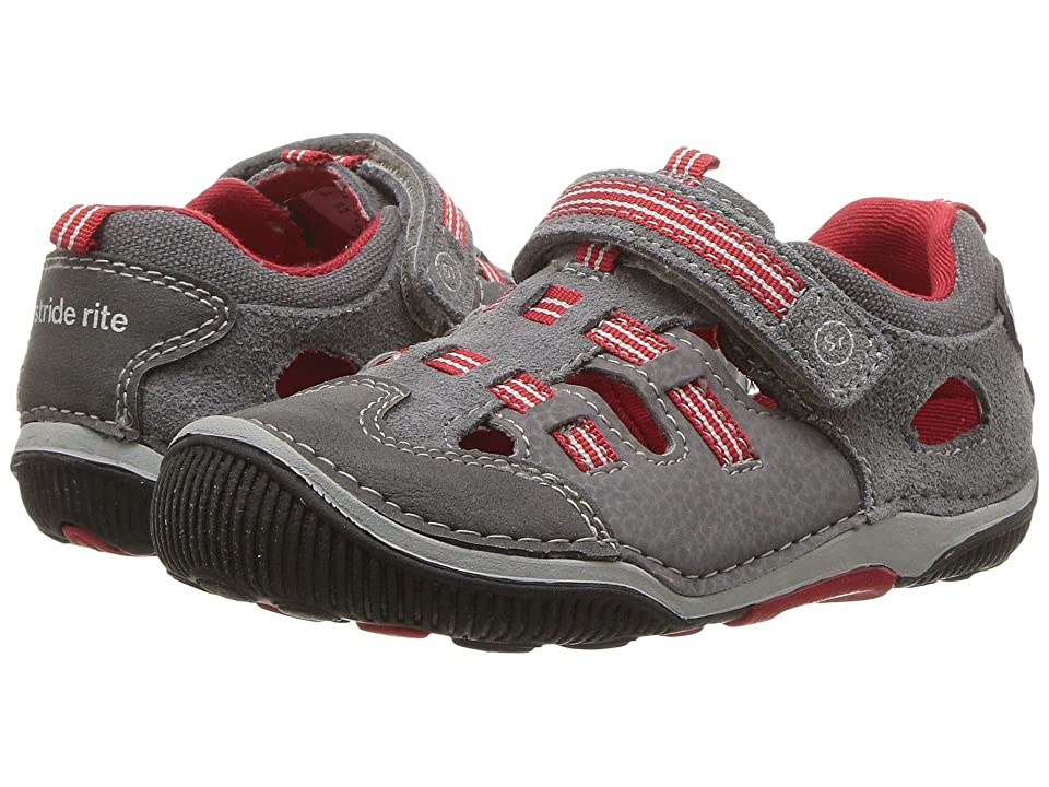 Stride Rite SRT Reggie (Toddler) (Grey/Red) Boys Shoes
