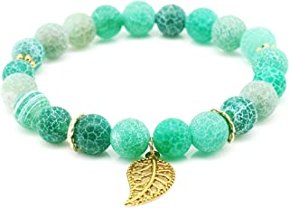 Handmade Natural Stone Soothing Beaded Stretch Bracelet Fashion Accessories