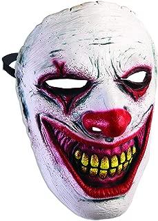 Forum Novelties Men's Frontal Mask-Evil Clown, White, Standard