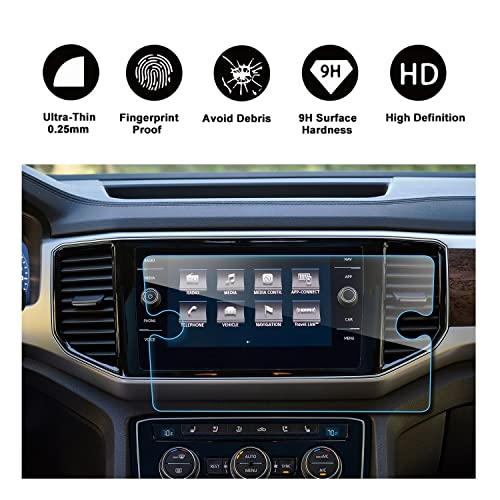 2018 Atlas Discover Media Touch Screen Car Display Navigation Screen Protector, RUIYA HD Clear Tempered