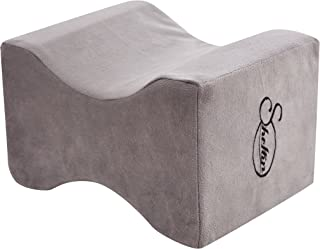 sheltin Memory Foam Knee Pillow for Sciatica Relief,Leg Pain,Back Pain,Pregnancy,Hip and Joint Pain - Leg Positioner Pillo...