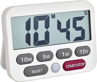 TFA Dostmann digital timer och stoppur, plast, vit, 9 x 2 x 9 cm