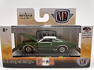 1 of 2488 M2 Machines by M2 Collectible Auto-Wheels 1965 Shelby G.T.350 1:64 Scale R06 17-07 Dark Metallic Green//White Details Like NO Other