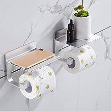 Hoomtaook toiletrolhouder zonder boren toiletrolhouder zelfklevende toiletrolhouder zonder boren, ruimte aluminium, matte ...