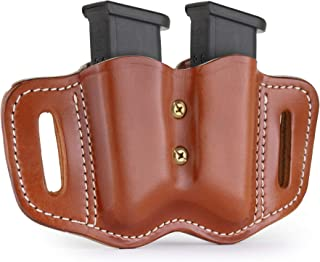 1791 GUNLEATHER 2.2 Mag Holster - Double Mag Pouch for Double Stack Mags, OWB Magazine Pouch for Belts - Classic Brown, Stealth Black, Black & Brown and Signature Brown