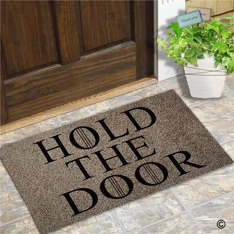 Entrance Doormat - Funny and Creative Doormat - Hold The Door Door Mat for Indoor Outdoor Use Top 70x120cm