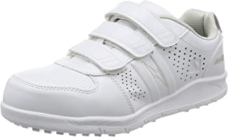 [シモン] プロスニーカー 短靴 JSAA規格 耐滑 軽快 静電 スニーカー マジック 反射 NS618白静電